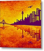 It Was Us That Scorched The Sky Metal Print by Angelina Vick