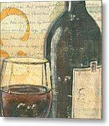 Italian Wine And Grapes Metal Print by Debbie DeWitt