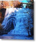 Ithaca Water Falls New York Panoramic Photography Metal Print by Paul Ge