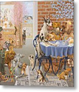 It's A Dog's World Metal Print by Victor Powell