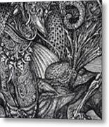 Jabberwockie Metal Print by Otto Rapp