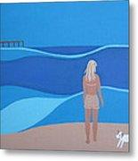 Jack At The Beach Metal Print by Sandra McHugh