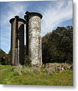 Jack London Ranch Silos 5d22161 Metal Print by Wingsdomain Art and Photography