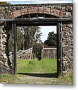 Jack London Ranch Winery Ruins 5d22128 Metal Print by Wingsdomain Art and Photography