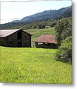 Jack London Stallion Barn 5d22058 Metal Print by Wingsdomain Art and Photography