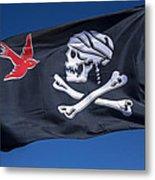 Jack Sparrow Pirate Skull Flag Metal Print by Garry Gay