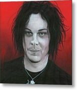 'jack White' Metal Print by Christian Chapman Art