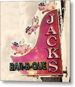 Jacks Bbq Metal Print by Amy Tyler