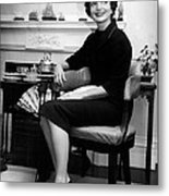Jacqueline Kennedy Sitting Pretty Metal Print by Retro Images Archive