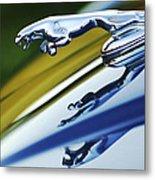 Jaguar Car Hood Ornament Metal Print by Jill Reger