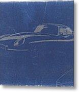 Jaguar E Type Metal Print by Naxart Studio