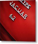 Jaguar E Type Metal Print by Tim Gainey