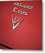 Jaguar E Type V12 Abstract Metal Print by Tim Gainey