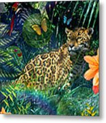 Jaguar Meadow Metal Print by Alixandra Mullins