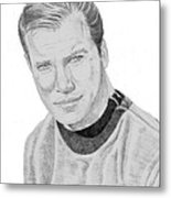 James Tiberius Kirk Metal Print by Thomas J Herring