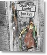 Jane Eyre Book Abstract Metal Print by Nik Helbig