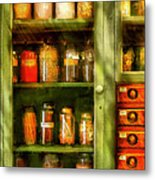 Jars - Ingredients II Metal Print by Mike Savad