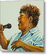 Jazz Singer Metal Print by Sharon Sorrels