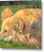 Jealous Jessie Metal Print by Emily Hunt and William Holman Hunt