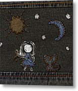 Jeans Stitches Metal Print by Gianfranco Weiss