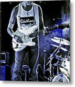 Jeff Beck On Guitar 8 Metal Print by The  Vault - Jennifer Rondinelli Reilly