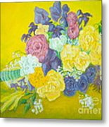 Jen's Wedding Bouquet Metal Print by Paul Galante