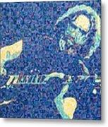 Jerry Garcia Chuck Close Style Metal Print by Joshua Morton