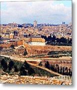 Jerusalem From Mount Olive Metal Print by Thomas R Fletcher