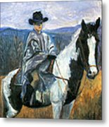 Jesse On Dakota Metal Print by Ethel Vrana
