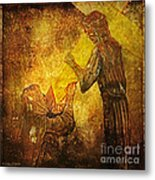 Jesus Meets His Mother Via Dolorosa 4  Metal Print by Lianne Schneider