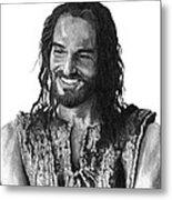 Jesus Smiling Metal Print by Bobby Shaw