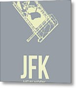 Jfk Airport Poster 1 Metal Print by Naxart Studio