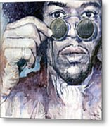 Jimi Hendrix 08 Metal Print by Yuriy  Shevchuk