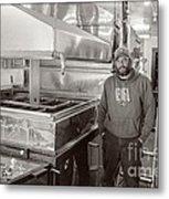 Jimmy At Mt Cube Sugar Farm Metal Print by Edward Fielding