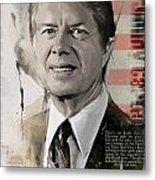 Jimmy Carter Metal Print by Corporate Art Task Force