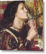 Joan Of Arc Kisses The Sword Of Liberation Metal Print by Philip Ralley