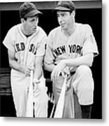 Joe Dimaggio And Ted Williams Metal Print by Gianfranco Weiss