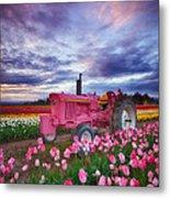 John Deere Pink Metal Print by Darren  White