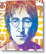 John Lennon Pop Art Metal Print by Jim Zahniser