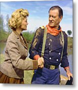 John Wayne In The Horse Soldiers Metal Print by Silver Screen