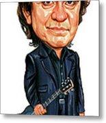 Johnny Cash Metal Print by Art