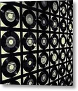 Johnny Cash Vinyl Records Metal Print by Dan Sproul