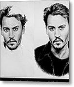 Johnny Depp 4 Metal Print by Andrew Read