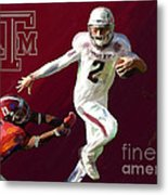 Johnny Football Metal Print by GCannon
