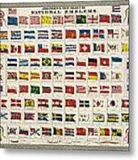 Johnsons New Chart Of National Emblems Metal Print by Georgia Fowler