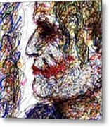 Joker - Profile Metal Print by Rachel Scott
