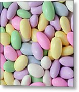 Jordan Almonds - Weddings - Candy Shop - Square Metal Print by Andee Design
