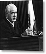 Joseph A. Wapner In The People's Court  Metal Print by Silver Screen