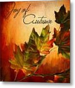 Joy Of Autumn Metal Print by Lourry Legarde