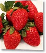Juicy Strawberries Metal Print by Barbara Griffin